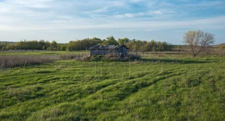 Old dilapidated barn