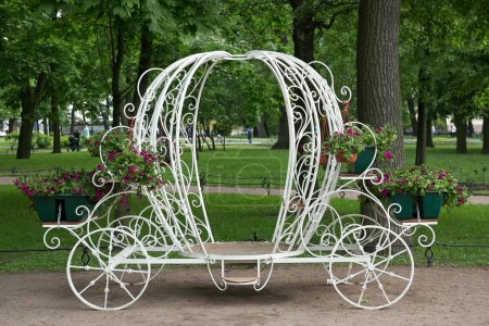 White carriage in the park