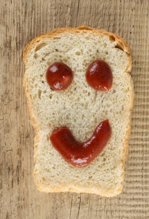 Slice of bread with a smile