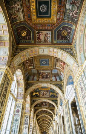 Ceiling in art gallery, Winter Palace of St. Petersburg
