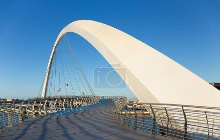 DUBAI, UAE - NOVEMBER 29, 2017: Dubai Water Canal arch bridge