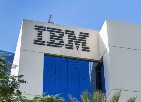DUBAI, UAE - DECEMBER 1, 2017: Sign of IBM on office building.