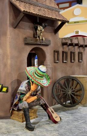 DUBAI, UAE - DECEMBER 4, 2017: Decoration pavilion Mexico in park entertainment center Global Village