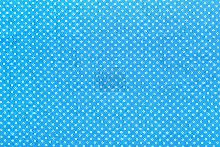 Blue polka-dot cotton table cloth