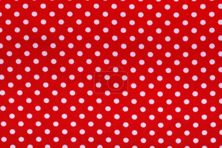 Red polka-dot cotton napkin horizontal view