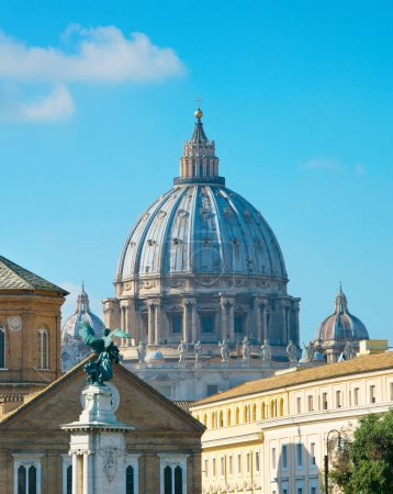 Rome with cupola of  Peter Basilica