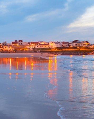 Coastal town at dusk. Portugal