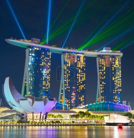 Marina Bay lights show.