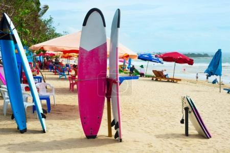 Surfing on Bali island