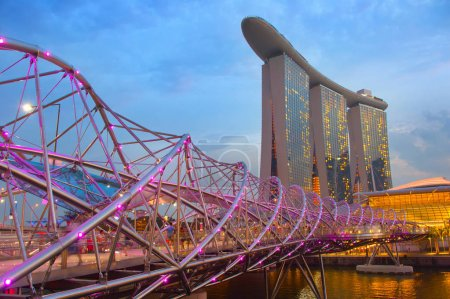 Marina Bay, Helix Bridge, Singapore