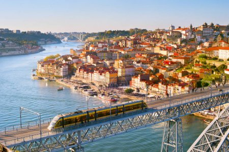 Porto overview at sunset, Portugal