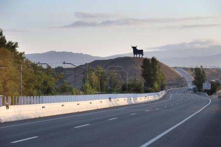 Traditional black bull along the spanish roads. Spain