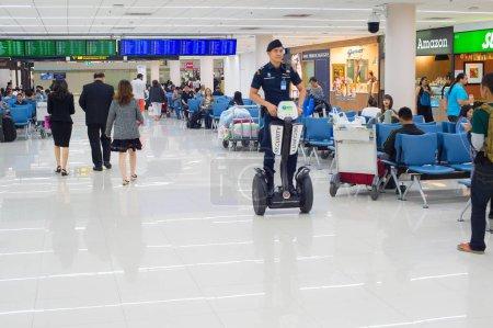Passengers waiting at Don Mueang airport