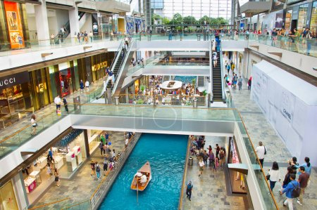 SINGAPORE - FEB 18, 2017: Shopping mall at Marina Bay Sands Resort on March 08, 2013 in Singapore. It is billed as the world's most expensive standalone casino property at S$8 billion
