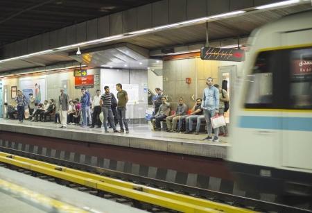 People at Tehran metro station