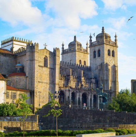 Porto Cathedral (Se do Porto) or Cathedral of Assumption of Our Lady in Porto, Portugal