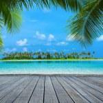 Beautiful beach at Maldives, tropical landscape...