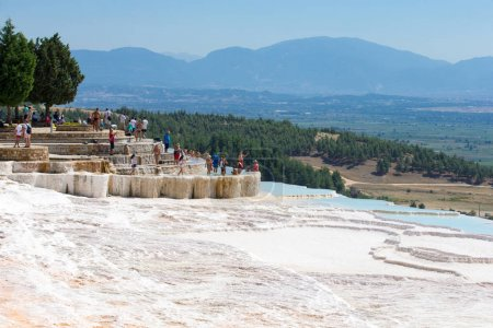 Tourists on Pamukkale Trave