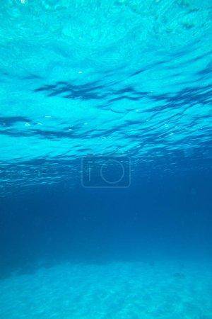 Photo pour Vue de sous l'eau sur la plage tropicale des Maldives - image libre de droit