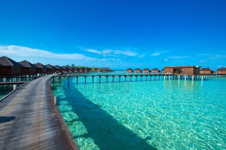 water bungalows at Maldives
