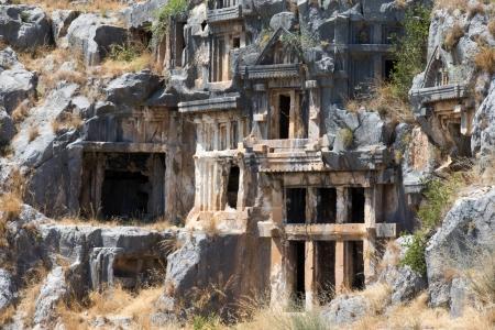 Ancient rock-cut tombs in Myra