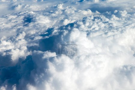 view of beautiful fluffy clouds
