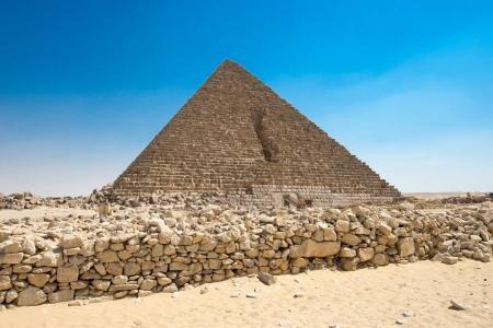 pyramid with beautiful sky