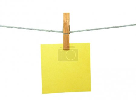 sheet hanging on clothes peg