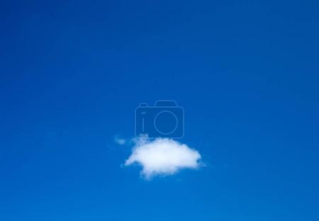 Beautiful azure sky with little cloud