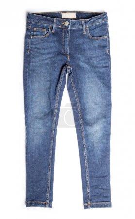 Photo pour Jeans bleu isolé sur blanc - image libre de droit