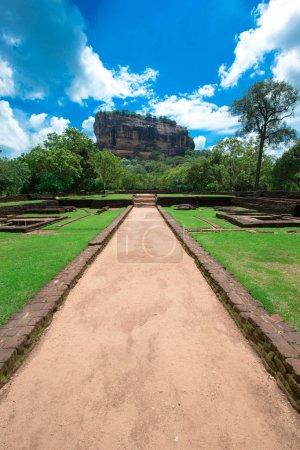 alley to Sigiriya Lion rock