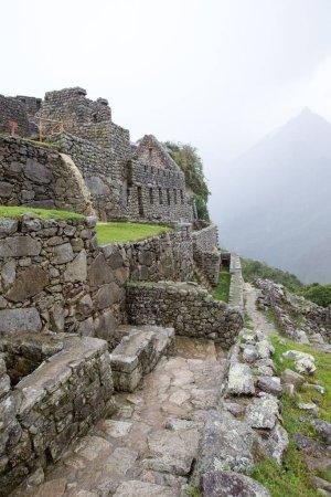 view of Machu Picchu ruins, UNESCO world heritage site
