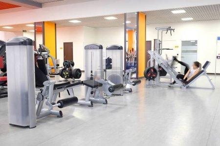 a fitness hall