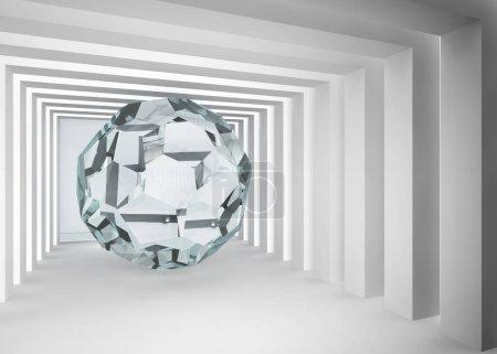 transparency sphere in the grey room