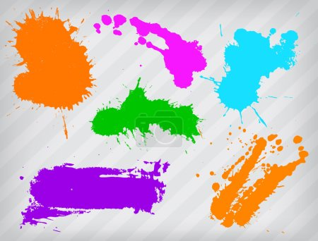Illustration for Collection of paint splash. Vector set of brush strokes. - Royalty Free Image