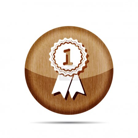 Award badge with ribbons icon