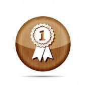 award badge with ribbons icon