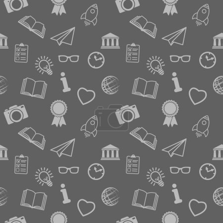 Illustration for Seamless pattern background of different school objects - Royalty Free Image