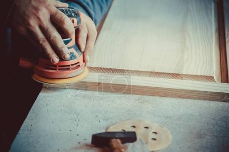 using sander for wooden furniture