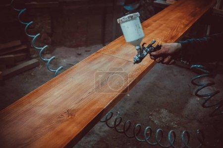 industrial painting of wood