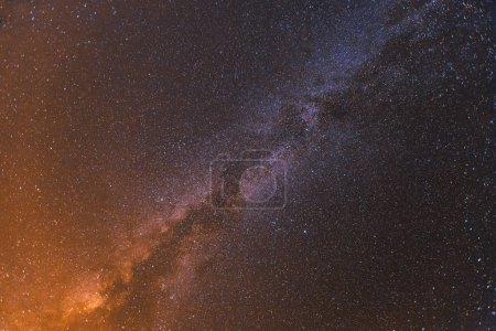 Colorful space shot showing the universe milky way