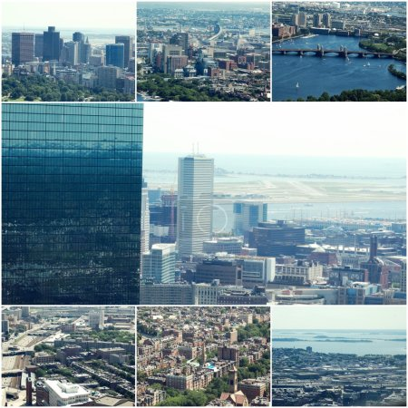 Aerial view of Boston MA
