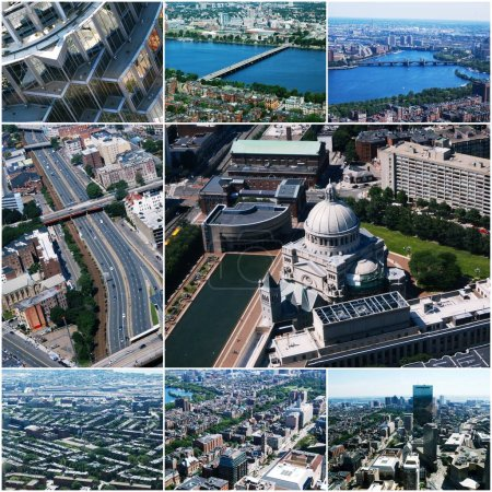 Aerial view images of Boston