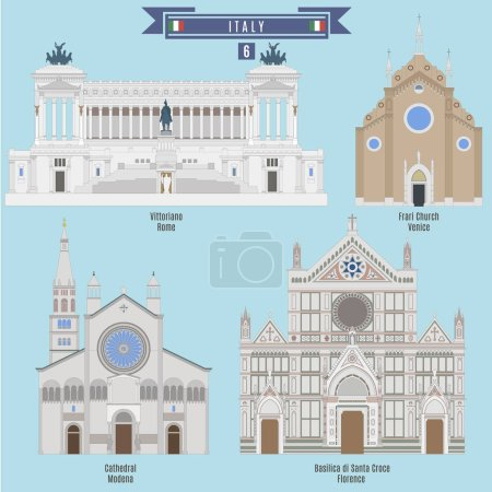 Famous Places in Italy: Vittoriano - Rome, Cathedr...