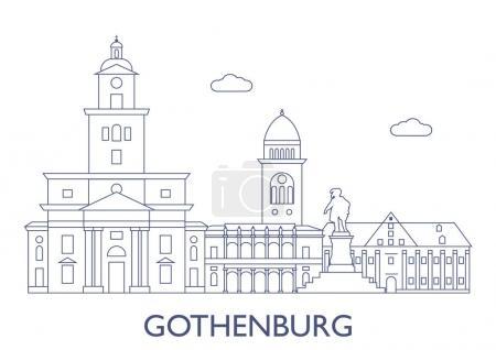 Gothenburg, Sweden. The most famous buildings of t...