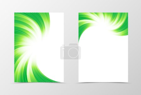 Flyer template swirl design
