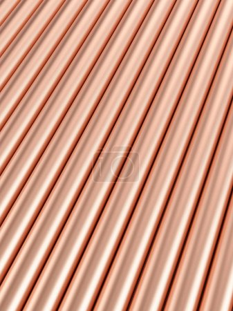 Copper pipes background