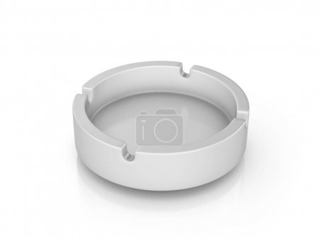 Photo for Ashtray on a white background. 3d illustration. - Royalty Free Image