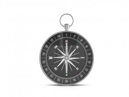Photo for Compass on a white background. 3d illustration. - Royalty Free Image
