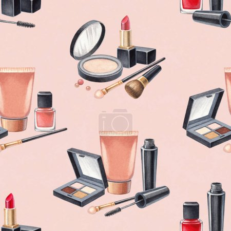 Hand drawn make up cosmetics